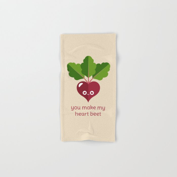 You Make My Heart Beet Hand & Bath Towel