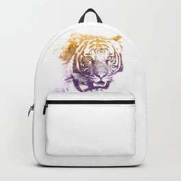 TIGER SUPERIMPOSED WATERCOLOR Backpack