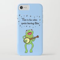 kermit iPhone & iPod Cases featuring Kermit having fun by BlackBlizzard