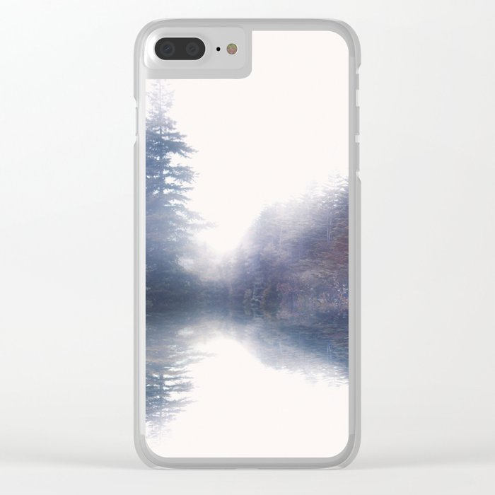 Serene reflections Clear iPhone Case