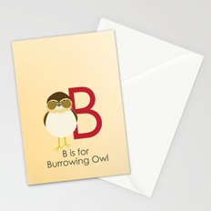 B is for Burrowing Owl Stationery Cards