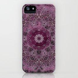 Vintage Merlot Lace Mandala iPhone Case