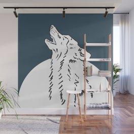 Pra Loup Howling Wolf Wall Mural