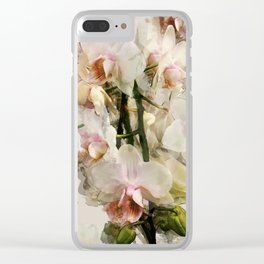 Painted Orchids Clear iPhone Case