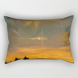 Spaceships in the Night Sky Rectangular Pillow