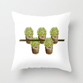 contradiction harmony Throw Pillow