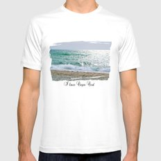 Old Silver Beach, Cape Cod Mens Fitted Tee MEDIUM White