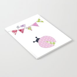Ladybug with party flags Notebook