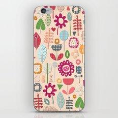 paper cut flowers peach iPhone & iPod Skin