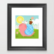 Pink Snail (female) Framed Art Print