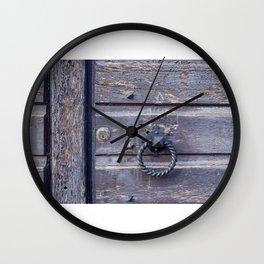 The Door knocker Wall Clock