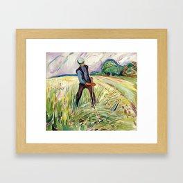 Edvard Munch - The Haymaker, 1917 Framed Art Print