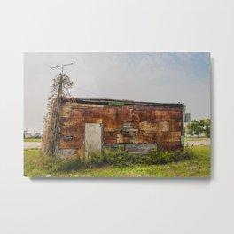 Stone Building, Regan, North Dakota 5 Metal Print