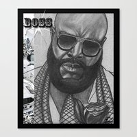 boss Canvas Prints featuring BOSS by TATTZ4CARZ