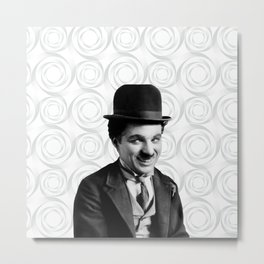 Charlie Chaplin Old Hollywood Metal Print