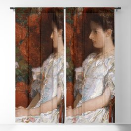 Childe Hassam - The Victorian Chair Blackout Curtain