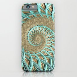 Golden Floss - Fractal Art  iPhone Case