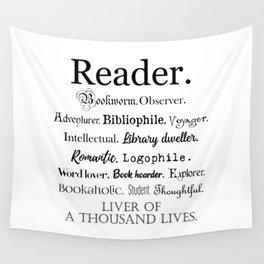 Reader Description Wall Tapestry
