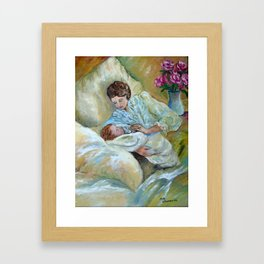 Mother and Child by May Villeneuve Framed Art Print