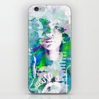 erykah badu iPhone & iPod Skins featuring Ode To Badu by Jennifer Torres