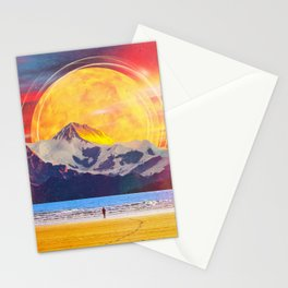 The Mountain At The Shore Stationery Cards