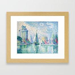 """Paul Signac """"Les Tours Vertes, La Rochelle"""" Framed Art Print"""
