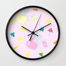 When Life Gives You Lemonade Wall Clock