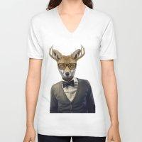 ben giles V-neck T-shirts featuring BEN by Hagara Stuff