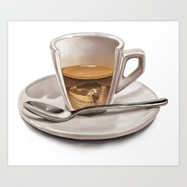 Italian coffee Art Print