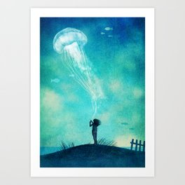 Jellyfish Dream  Art Print