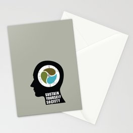 sustain yourself society Stationery Cards