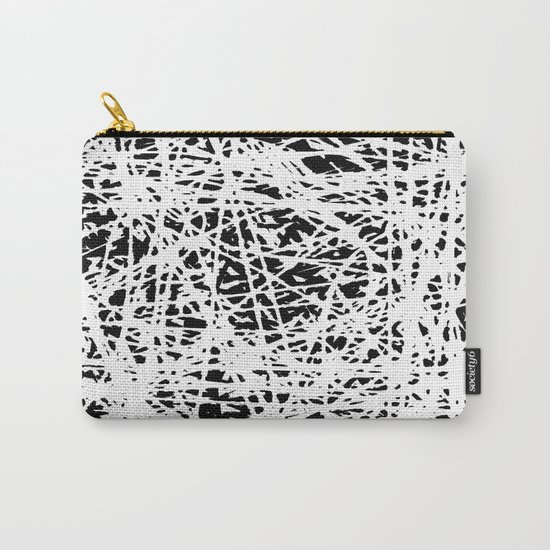 Whispers In the Dark - Black and White Abstract Carry-All Pouch