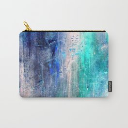 Winter Abstract Acrylic Textured Painting Carry-All Pouch