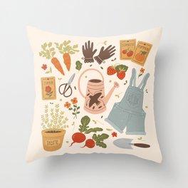 Gardening Things Throw Pillow
