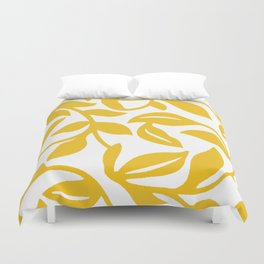 PALM LEAF VINE LEAF YELLOW PATTERN Duvet Cover