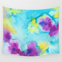 tie dye Wall Tapestries featuring Tie-Dye by Tatiana Shaffer