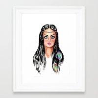 hippie Framed Art Prints featuring hippie by knutsie
