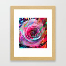Marble Colored Rose Framed Art Print