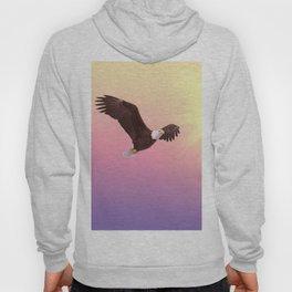 Bald eagle soaring bird raptor Hoody
