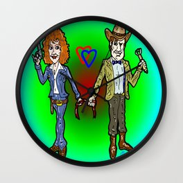 River Song and The Doctor...  A Valentines Card through Time!  Doctor Who Cartoon Wall Clock