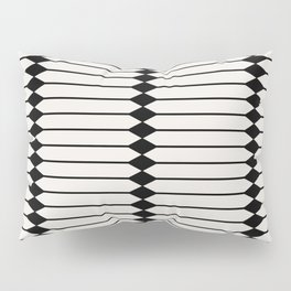 Minimal Geometric Pattern - Black Pillow Sham