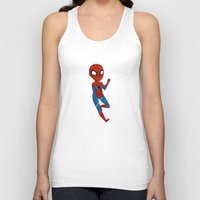 spider man Tank Tops featuring Spider-Man by Nozubozu