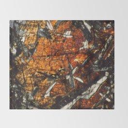 Pyroxene Crystals Throw Blanket