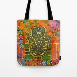 Boho & Batik Hamsa Tote Bag