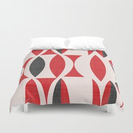 Seventies in Cherry Red Duvet Cover
