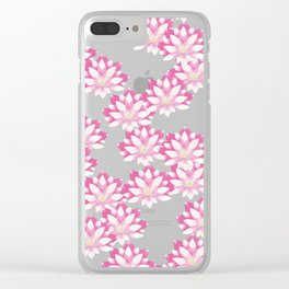 Lotus flower pattern Clear iPhone Case