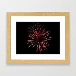 Sparse Double Burst Framed Art Print