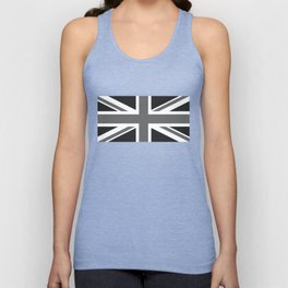 UK Flag, High Quality 1:2 Grayscale Unisex Tank Top