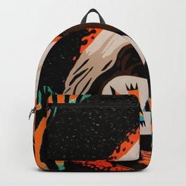 Zulu girl with zebraprint Backpack