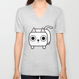 Cat Loaf - White Kitty Unisex V-Neck